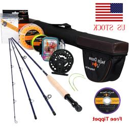 9FT 5WT Fly Fishing Rod with Reel Combo 5/6WT Fly Reel and L