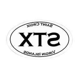 CafePress STX St Croix USVI Sticker Oval Bumper Sticker, Eur