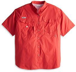Columbia Men's Bonehead Short Sleeve Shirt, Sunset Red, Larg