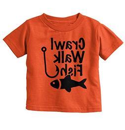 Crawl Walk Fish Funny Shirt Fishing Idea Bass Lure Toddler I