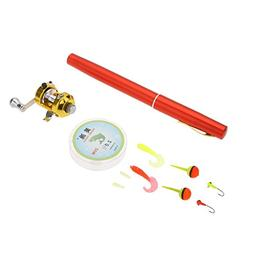Fishing Rod Combo 1M Portable Aluminum Alloy Pen Shape Pole