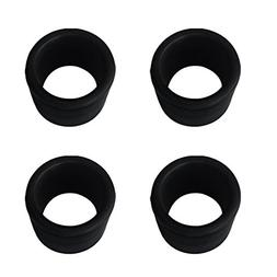 MagiDeal 4 Pieces Black Rubber 50.8mm 2'' Fishing Rod Holder