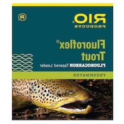 RIO Fly Fishing Trout 9' 4X Fishing Leaders, Clear