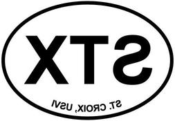 St. Croix, USVI Euro Oval Bumper Sticker