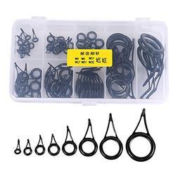 VGEBY 75Pcs Fishing Rod Guide Eye Rings Ceramic Rod Tip Tops