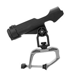 VGEBY Boat Fishing Rod Holder, Rotatable Sides Clamp Fishing