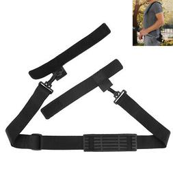 Adjustable Fishing Rod Carrier Strap Sling Band Shoulder Bel