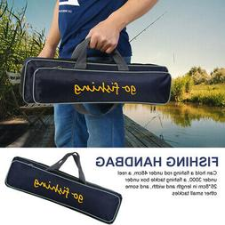 Adjustable Strap Fishing Rod Pole Reel Lures Box Tackle Stor