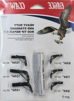 Eagle Claw AHDRTK Heavy Duty Stainless Rod Tip Repair Kit 6-
