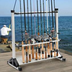 Aluminum Alloy Fishing Rod Vertical Portable Holder 24 Rack