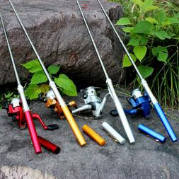 aluminum mini retractable pocket pen fishing rod