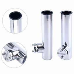 Amarine-made 2 PCS Stainless Clamp on Fishing Rod Holder for