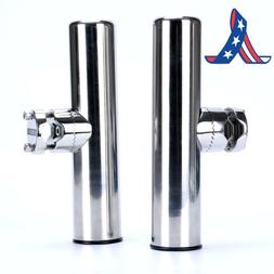 Amarine-Made 2Pcs Stainless Clamp On Fishing Rod Holder For