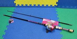 Shakespeare AMPSCPNKCBO Amphibian Youth Spin Combo, Pink
