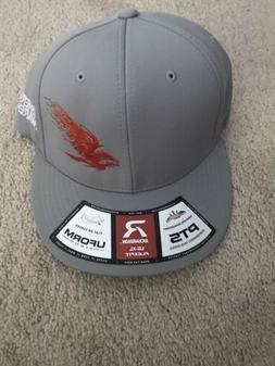 Authentic Phenix FIshing Rods Gray UFORM Flexfit Hat Cap LG-