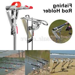Automatic Fishing Rod Holder Double Spring Angle Pole Fish P