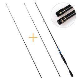 Baitcasting Casting Rod Carbon Fiber Ceramic Fishing Pole M/