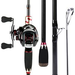 Sougayilang Baitcasting Fishing Rod with Reel Combos, Medium