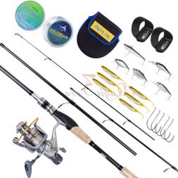 Baitfeeder Spinning Fishing Pole Kit 11BB 5.1:1 Hooks Saltwa