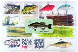 Tailored Tackle Bass Fishing Kit 77 Pcs. Tackle Lures Hooks