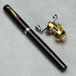 Black 38inch Mini Portable Pocket Pen Shape Aluminum Alloy F