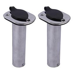 2Pcs Boat Rod Holder Flush Mount 90 Degree Stainless Steel F