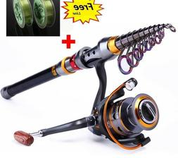 Carbon Fiber Fishing Rod Portable Spinning Telescopic Superh