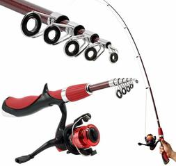 Carbon Fiber Portable Fishing Rod With Fishing Reels Combo S