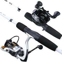 Sougayilang Carbon Fiber Spinning Casting Fishing Rod Ultral