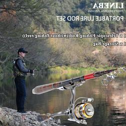 2.1m Carbon Fiber Telescopic Fishing Rod Travel Spinning Rod