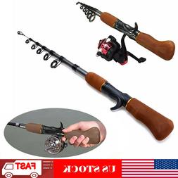 Carbon Fiber Telescopic Fishing Rod Sea Rock Travel Spinning