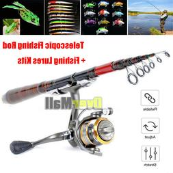 Carbon Fiber Telescopic Fishing Rod Travel Spinning Rod Pole