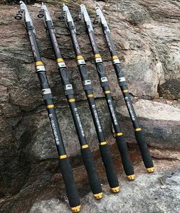 Carbon Fiber Travel Ultralight Telescopic Fishing Rod Portab