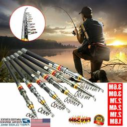 Carbon Fiber Ultralight Travel Telescopic Fishing Rod Sea Sp
