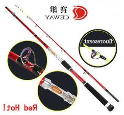 Carbon Fishing Rods Red Boat Rod Powerful Fish Ocean Pole De
