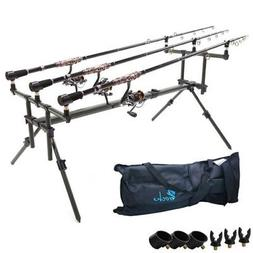 6Carp Fishing Rod Pod 3 pair of rod holders Stand Fishing Ta