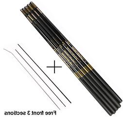 Fishings Carp Rod With Free Spare 3 Tips 3.6M-7.2M Carbon Fi