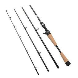 Fiblink 4 Pieces Travel Casting Rod Graphite Baitcasting Fis