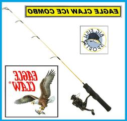 """EAGLE CLAW COLD ICE EAGLE Fishing Rod And Reel Combo 28"""" Len"""
