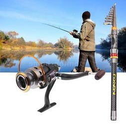 Collapsible Fishing Spinning Reel Saltwater Freshwater 1.8M