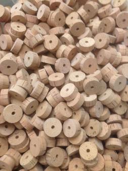 """Cork Rings, 50 Extra Select Natural, 1 1/4"""" x 1/2"""" x 1/4"""" Ho"""
