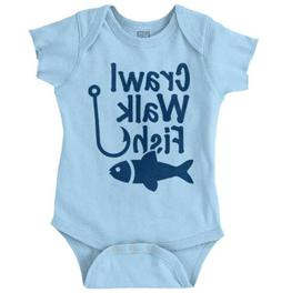 Crawl Walk Fish Funny Shirt Fishing Cool Gift Idea Bass Lure
