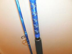CUSTOM SPINNING SURF FISHING ROD DEEP SEA BLUE MARBLE 12 FT