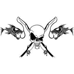 Amapower 25.414cm New Decoration Classic Fishing Skull Skele
