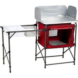 Deluxe Kitchen Sink Table Camp Ozark Trail Portable Cooking