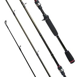 Entsport Dragon 1-Piece Carbon Bass Fishing Rod Fast Action