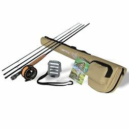K&E Outfitters Drift Series 5wt Fly Fishing Rod and Reel Com