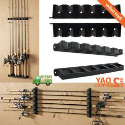 Durable Fishing 6 Rod Rack Horizontal/Vertical Wall Mount Li