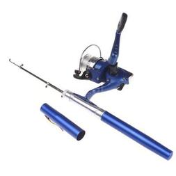 DURABLE POCKET PEN FISHING COMBOS ROD POLE AND  REEL SPINNIN