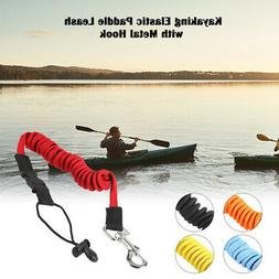 Elastic Safety Paddle Leash For Kayak Canoe Boat Fishing Coiled Rod W4B7 La Z6H2